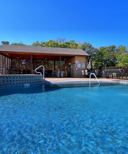 Augusta at Gruene New Braunfels TX Apartments features a fabulous resort style pool.