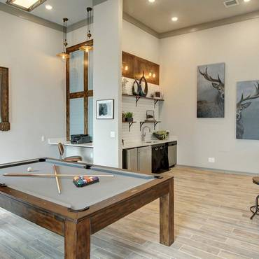 Pool table in resident lounge