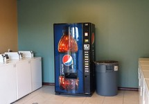 Clothes Care Center with Washer and Dryer and Vending Machine