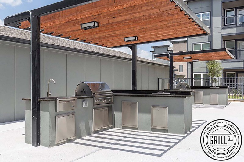 Poolside grilling stations