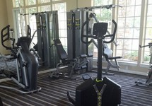 Fitness center with exercise equipments