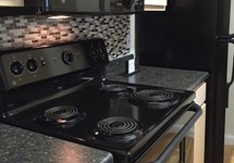 Stove top in kitchen