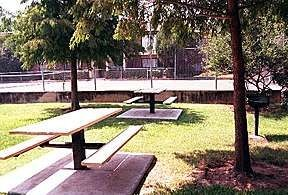 Picnic area with tables