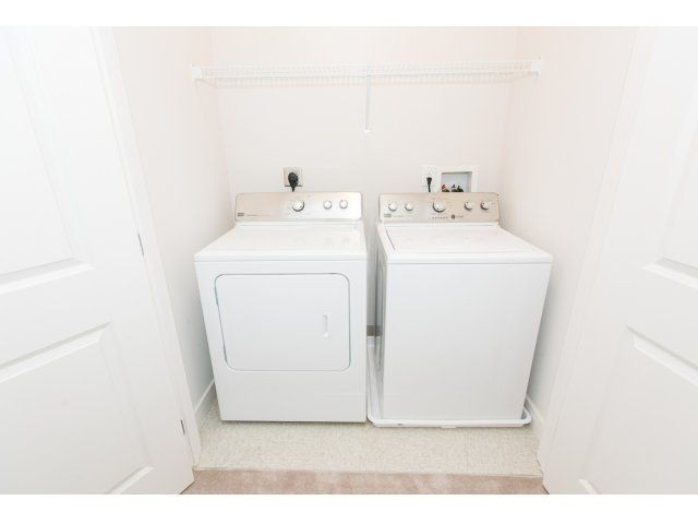 washer and dryer, white