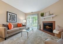 fire in fireplace in livingroom