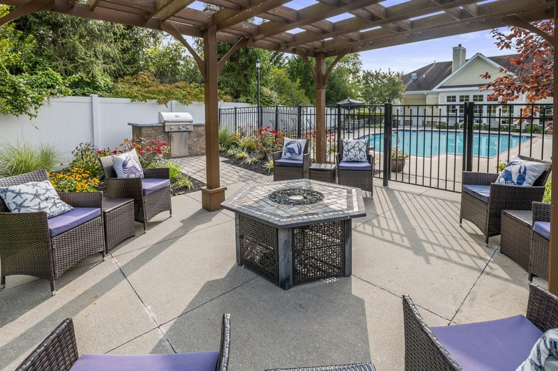 Year around seating and firepit