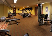 Fitness center with cardio equipment and weight lifting machine