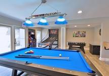 pool table, ping pong table, basketball game