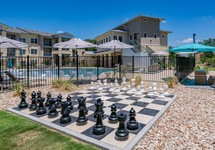 Large outdoor chess game