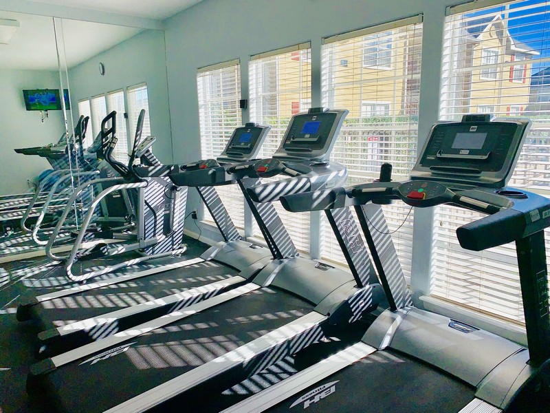 Fitness center with cardio equipment
