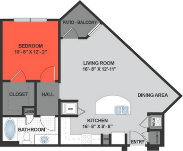 Layout of A3 floor plan.