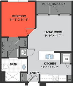Layout of AJ floor plan.