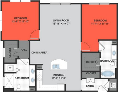 Layout of B3 floor plan.