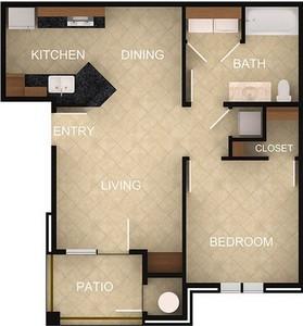 Layout of 1 Bedroom A floor plan.
