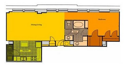 Layout of A1F floor plan.