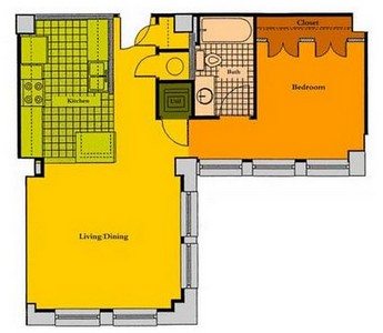 Layout of A1G floor plan.