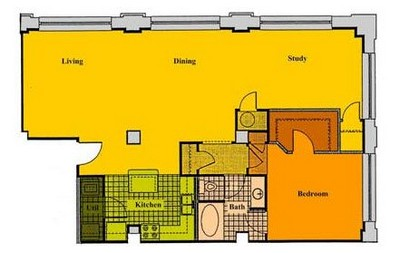 Layout of AD1 floor plan.