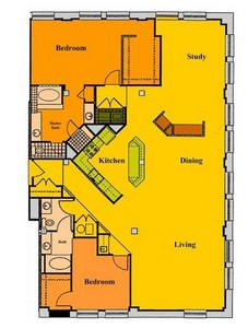 Layout of B2A floor plan.