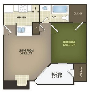 Layout of Chestnut floor plan.