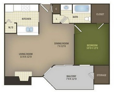 Layout of Aspen floor plan.