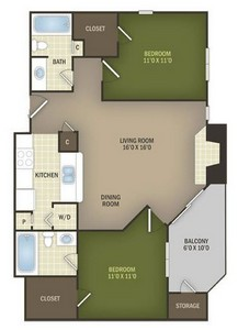 Layout of Magnolia floor plan.