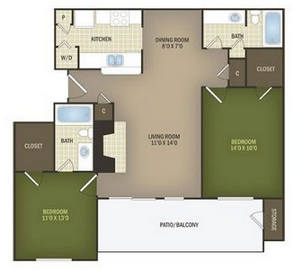 Layout of Willow floor plan.
