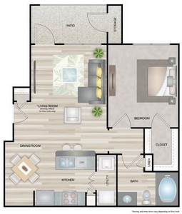 Layout of Nolana floor plan.
