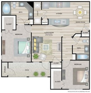 Layout of Vermont floor plan.
