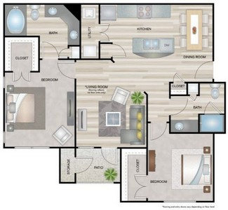 Layout of Jackson floor plan.