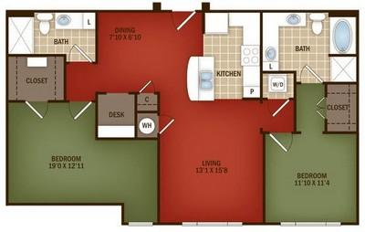 Layout of B3 floor plan.