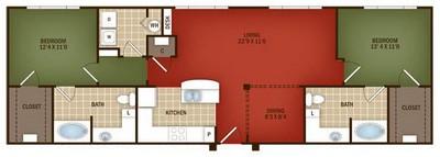 Layout of B4 floor plan.
