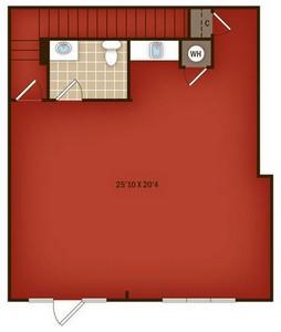 Layout of W1 floor plan.