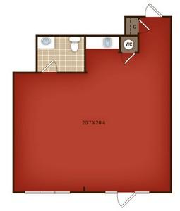 Layout of W2 floor plan.