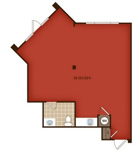 Layout of W4 floor plan.