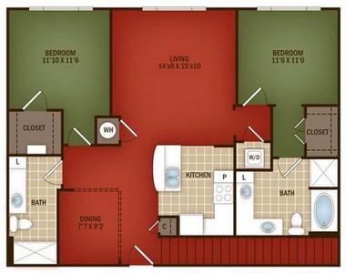 Layout of L1 floor plan.
