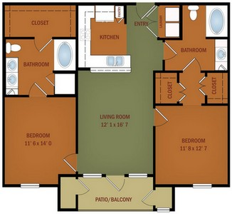 Layout of B1 Vista del Mare floor plan.