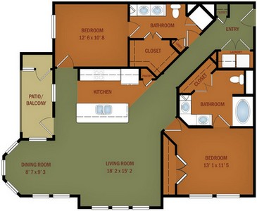 Layout of B4/B4B Bella Vista floor plan.
