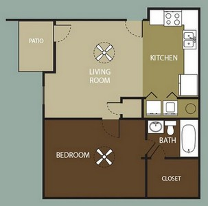 Layout of The Terrace floor plan.