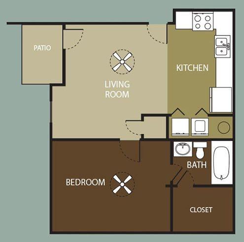 1 Bed 1 Bath Cimarron Court Apartments In Corpus Christi