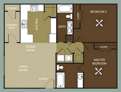 Layout of The Alcove floor plan.