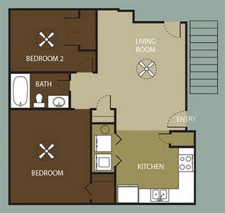Layout of The Veranda floor plan.