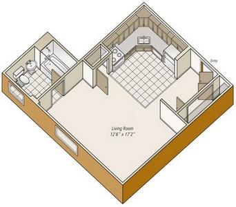 Layout of S21 floor plan.