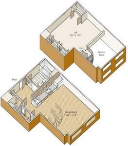 Layout of S22L floor plan.