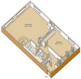 Layout of A22 floor plan.