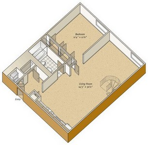 Layout of A23 floor plan.