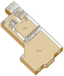 Layout of A32 floor plan.