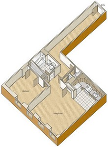 Layout of A34 floor plan.