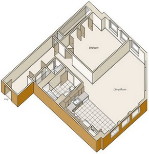 Layout of A35 floor plan.