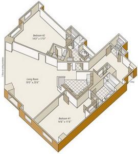 Layout of B12 floor plan.