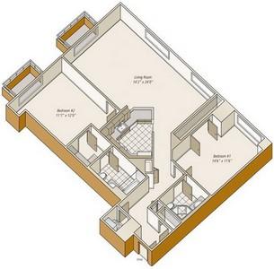 Layout of B13 floor plan.